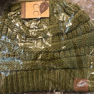 Olive green c.c. Beanie still in packaging